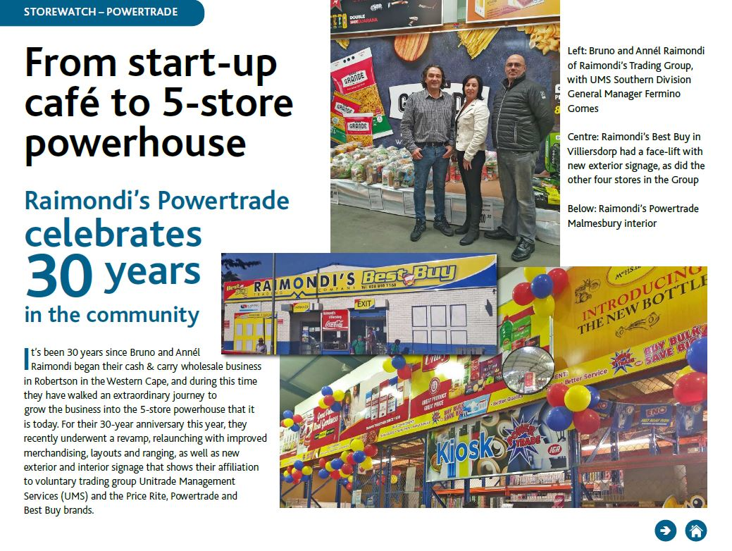 Raimondi's Powertrade Retailer Mag
